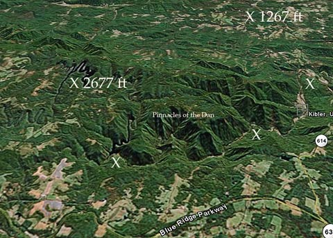 Pinnacles of the Dan on Google Earth