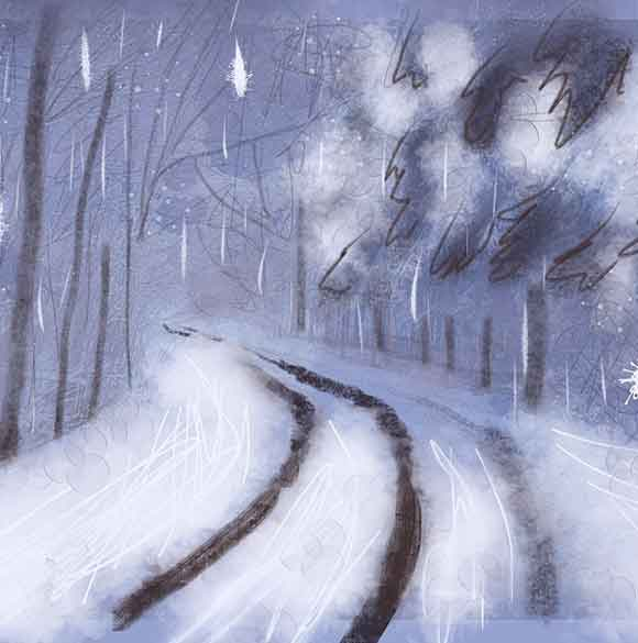 Down the road towards spring ~ artlike image by Fred