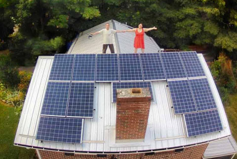 Drone's-eye view of one of the Floyd Solar Home Ramble sites you'll see.